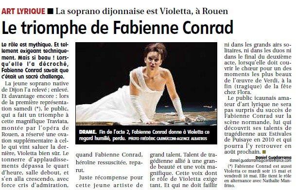 Le triomphe de Fabienne Conrad
